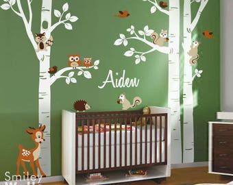 Kinderzimmer wandgestaltung wald  SMILEYWALLS wall art for Nursery and Kids room's von smileywalls