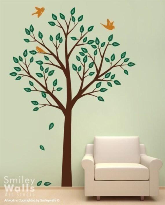 Baum und Vögel Wandtattoo Kinderzimmer Baum Wandtattoo Baum Wandtattoo,  Wandtattoo Vögel, Baby-Raum-Dekor, Baum Wandtattoo, Kinderzimmer Dekor