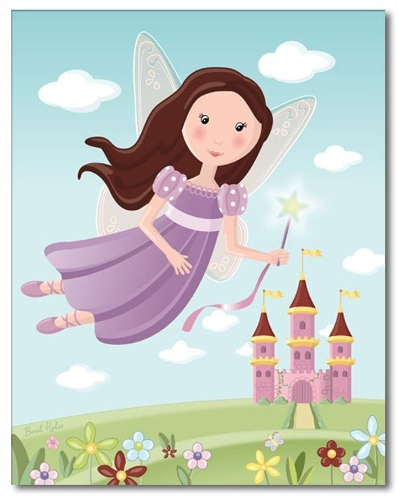 Fairy Nursery Print Kids Wall Decor,