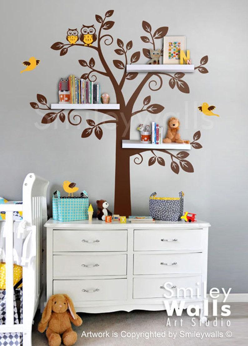 Kinder Wand Aufkleber Regal Baum Wandtattoo Baum Wandtattoo | Etsy