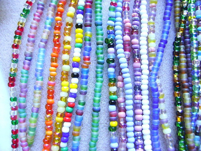 Seed BEADS CZECH 60 Rustic Brown GLASS Seed Rocailles 60 Spacer Mix 36 Inch Crystal