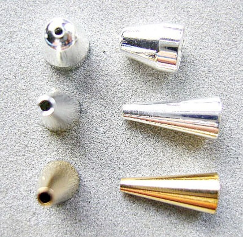 Cones Seamless Strand Connector Plated End Cap Silver Terminator Gold 13x5mm Tassel