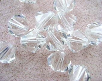 Beads, SWAROVSKI,  10MM, Crystal, Clear , Austrian, Crystal, 10 Pc Lot