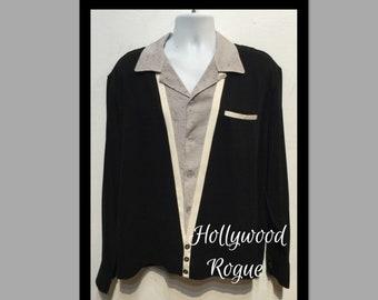Vintage 1950s V-panel shirt