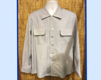 eb82bad5f51f97 Vintage 1950s Hollywood Rogue fleck fabric shirt.. Currently available in  medium
