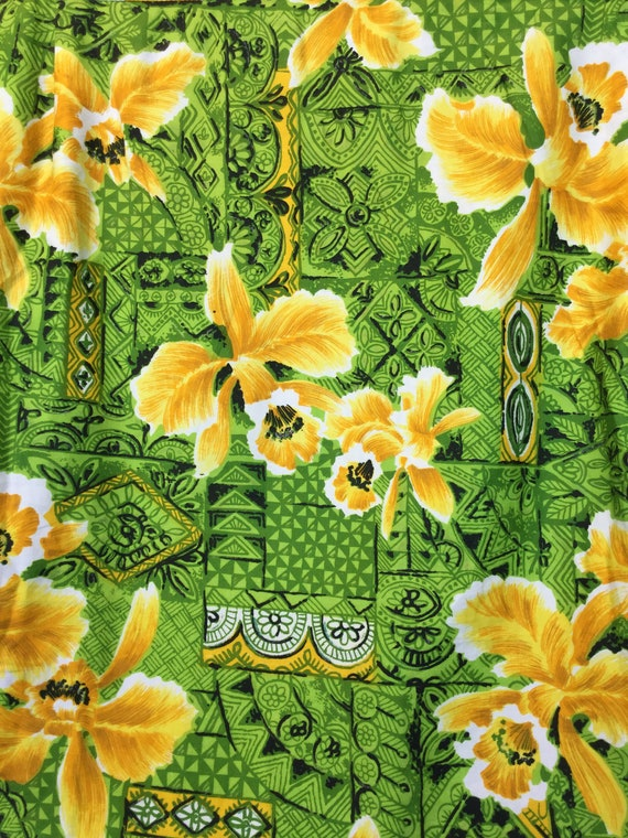 Vintage 1960s cotton Hawaiian shirt. - image 7