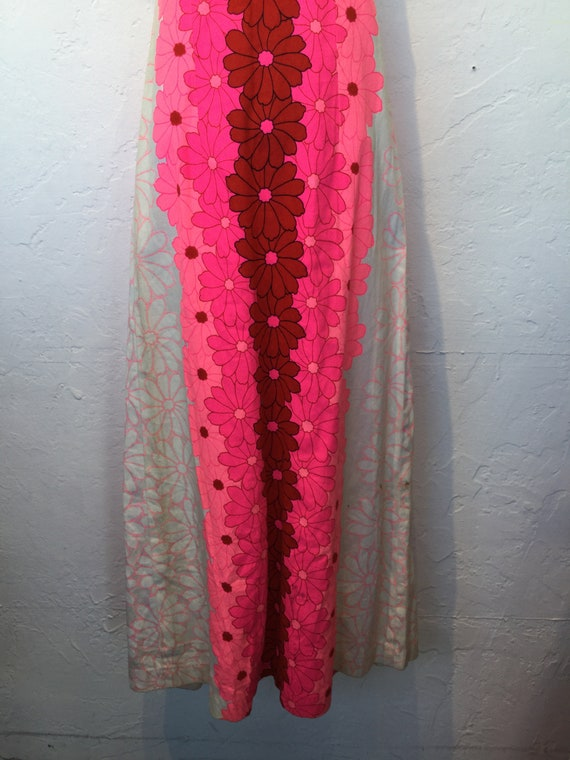Vintage 1960s/70s tiki Hawaiian cotton dress - image 2