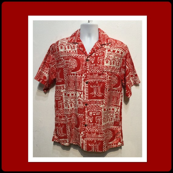 Vintage 1950s cotton Hawaiian shirt