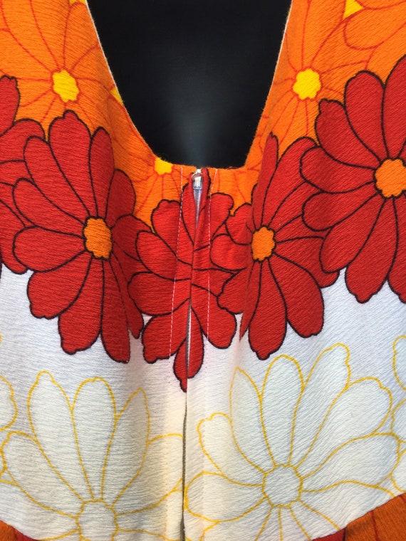 Vintage 1960s/70s tiki hawaiian cotton dress - image 7