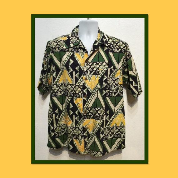 Vintage 1940s Surfrider cotton Hawaiian shirt. Siz
