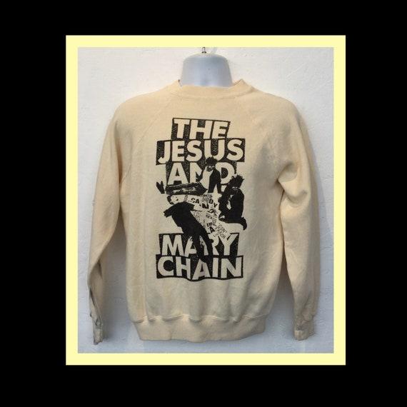 """Vintage printed rock sweatshirt- """" The Jesus and M"""