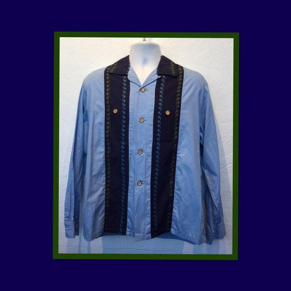 Vintage 1950s two tone lurex shirt