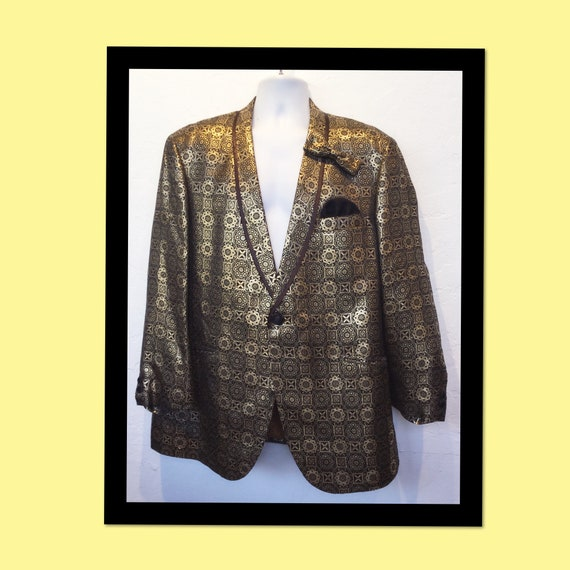 Stunning vintage 1950s/60s gold baroque evening di