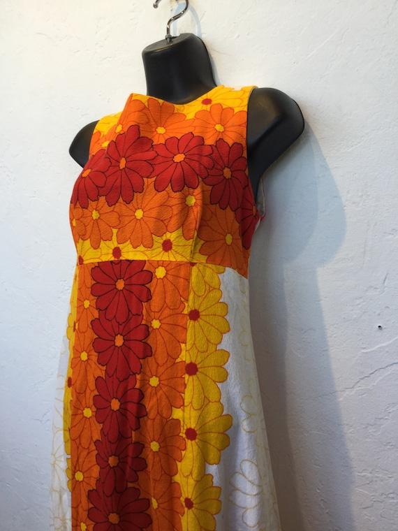 Vintage 1960s/70s tiki hawaiian cotton dress - image 4