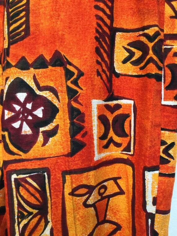 Amazing ! Vintage 1960s/70s cotton Hawaiian print… - image 4