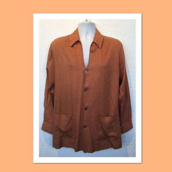 Vintage 1940s rayon Hollywood Jacket