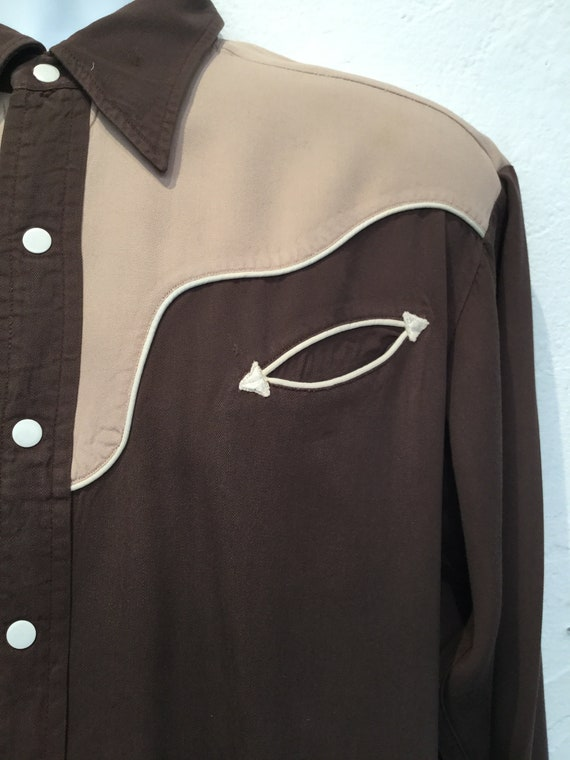 Vintage 1950s two tone western shirt - image 4