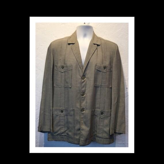 Vintage 1950s houndstooth Hollywood jacket