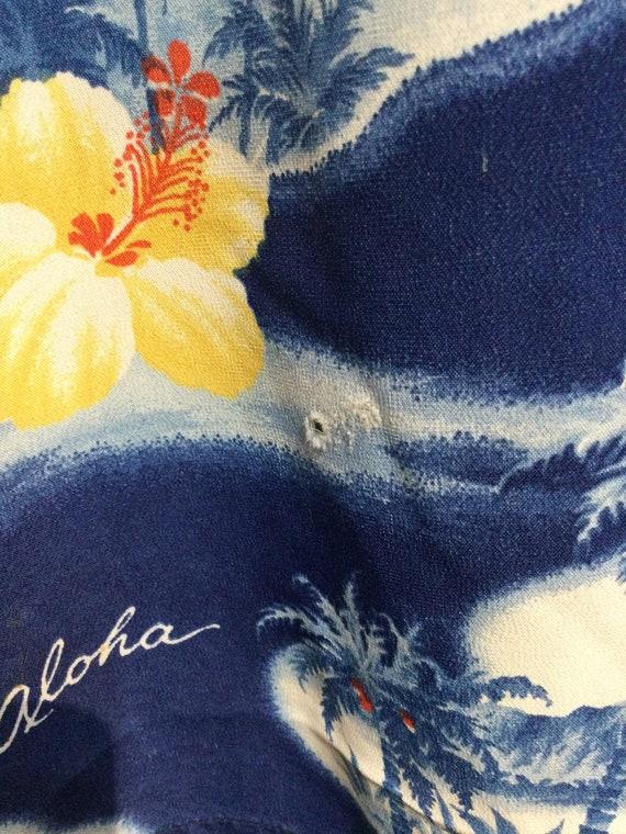 Vintage 1950s rayon Hawaiian shirt. Size large - image 8