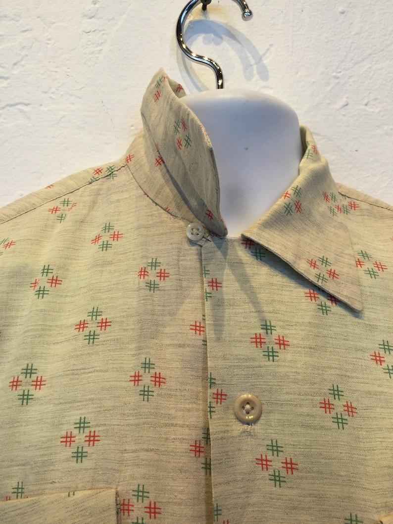 Vintage 1950s atomic print shirt