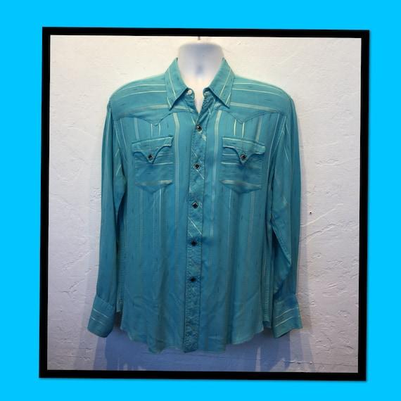 Vintage 1950s H BAR C western shirt