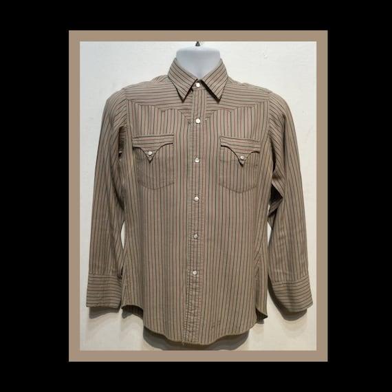 Vintage 1950s pinstripe H-BAR-C western shirt