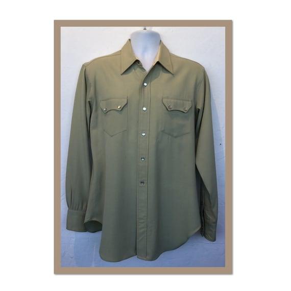 1950s vintage Levi short horn western shirt