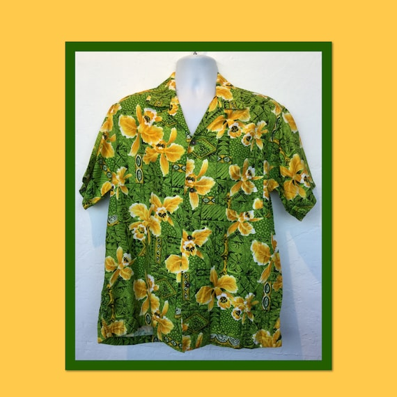 Vintage 1960s cotton Hawaiian shirt. - image 1