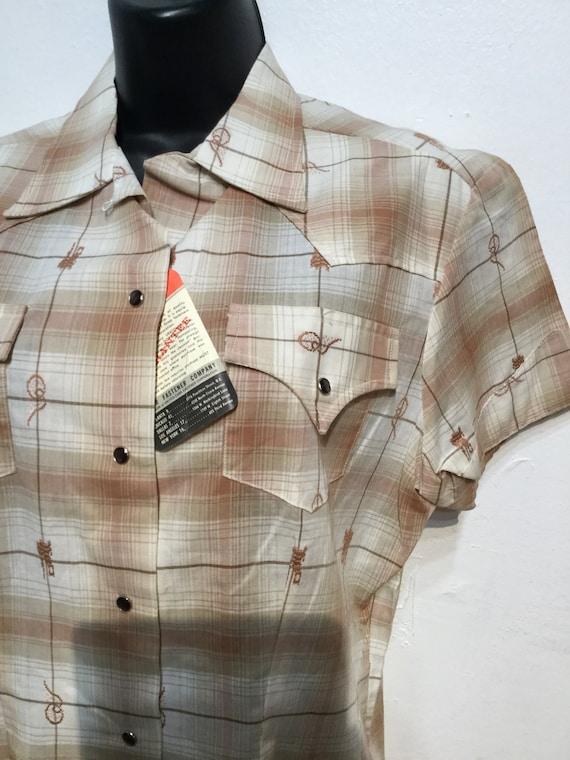 "Vintage Levi's 1950s ""dead stock"" Women's western… - image 4"