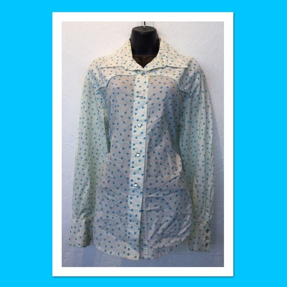 Vintage Women's Polka Dot Western Shirt