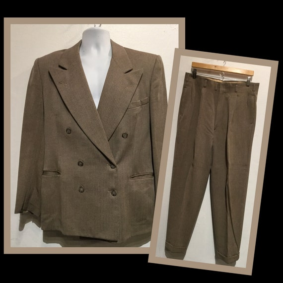 Vintage 1940s double breasted suit