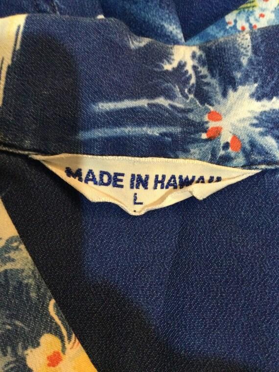Vintage 1950s rayon Hawaiian shirt. Size large - image 2