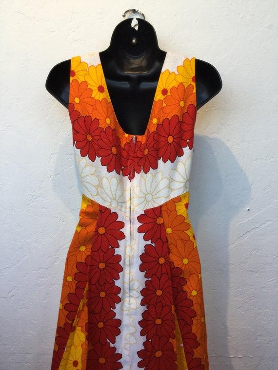 Vintage 1960s/70s tiki hawaiian cotton dress - image 6