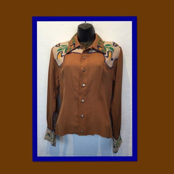 Vintage 1940s women's western shirt