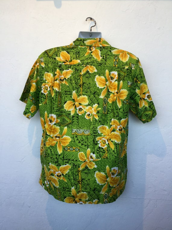 Vintage 1960s cotton Hawaiian shirt. - image 6