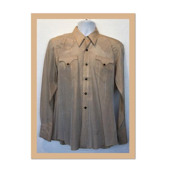Vintage 1950s acetate men's western shirt