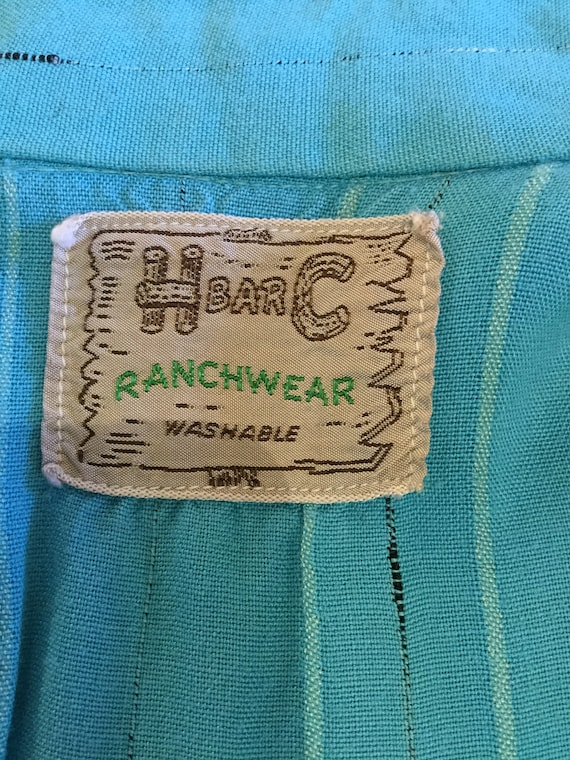 Vintage 1950s H BAR C western shirt - image 9
