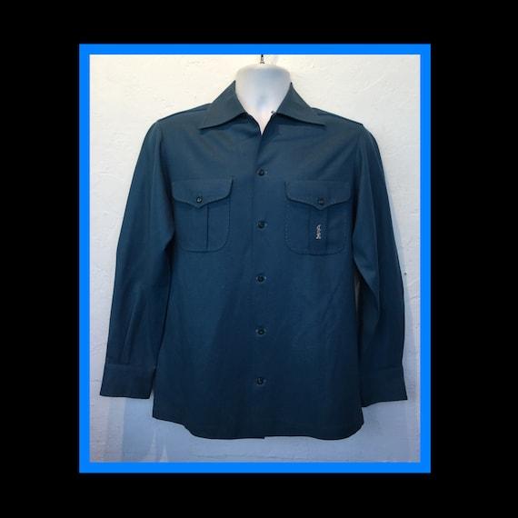 Vintage custom 1940s/50s gabardine shirt.