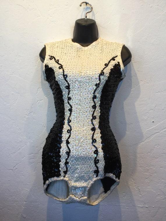 Vintage 1950s sequin swim/body suit