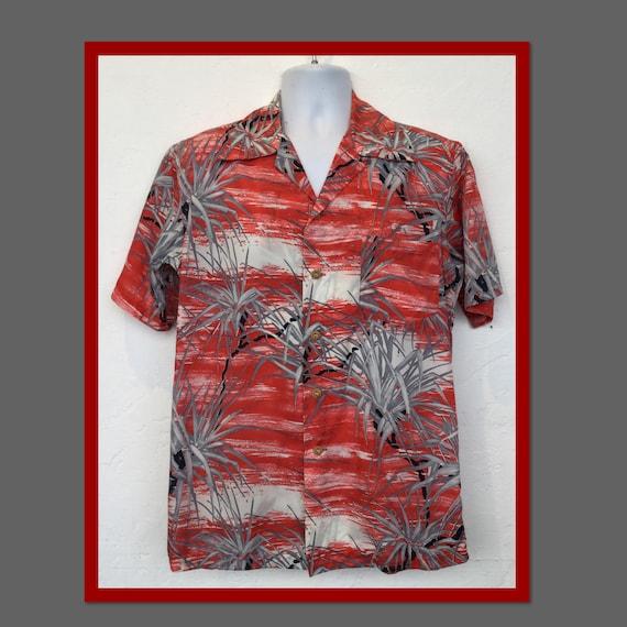 Vintage 1940s Kamehameha Hawaiian shirt. Size medi