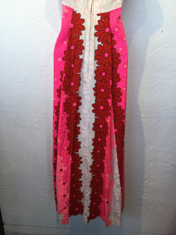 Vintage 1960s/70s tiki Hawaiian cotton dress - image 7
