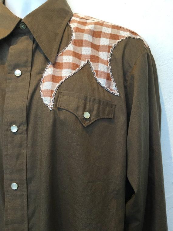 Vintage H-BAR-C cotton western shirt - image 4