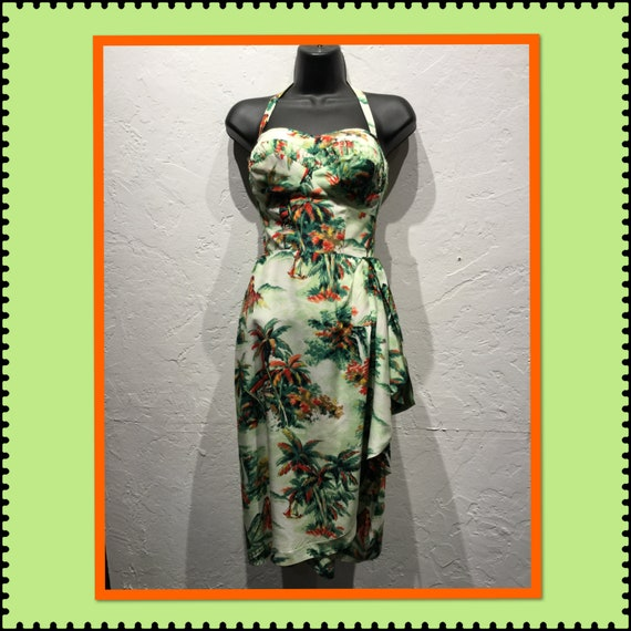 Amazing !!! Vintage 1940s/50s sarong dress with ma