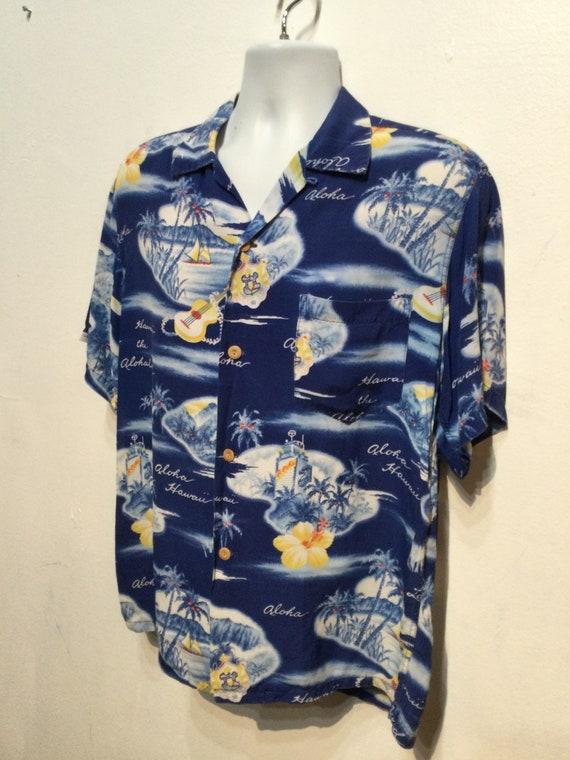 Vintage 1950s rayon Hawaiian shirt. Size large - image 10
