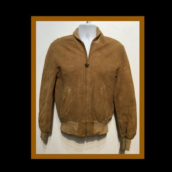 Vintage 1950s suede bomber jacket