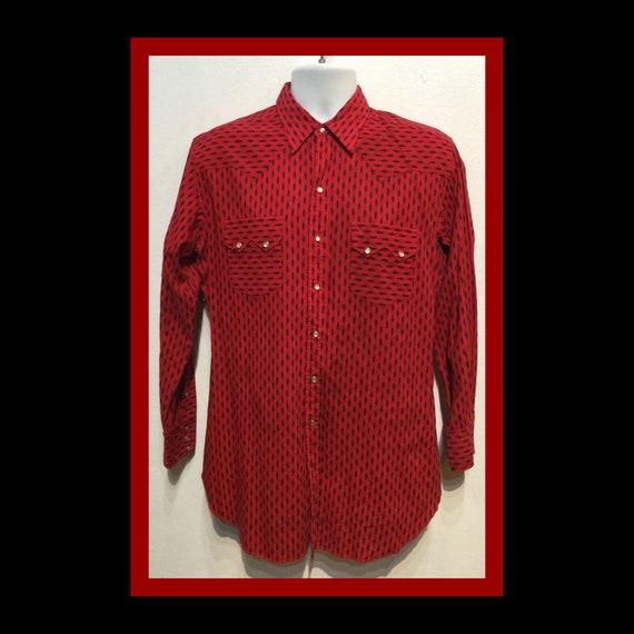 Vintage 1950s western shirt Size large