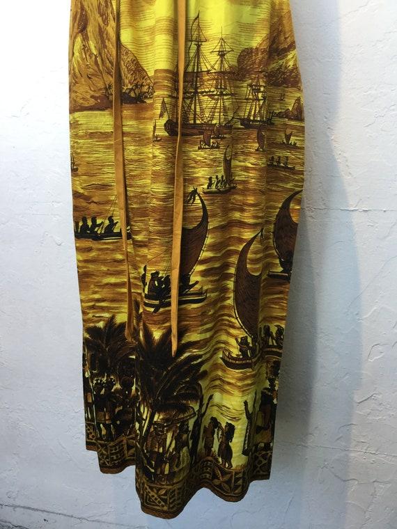 """Vintage 1960s Hawaiian cotton dress. 26"""" waist - image 4"""