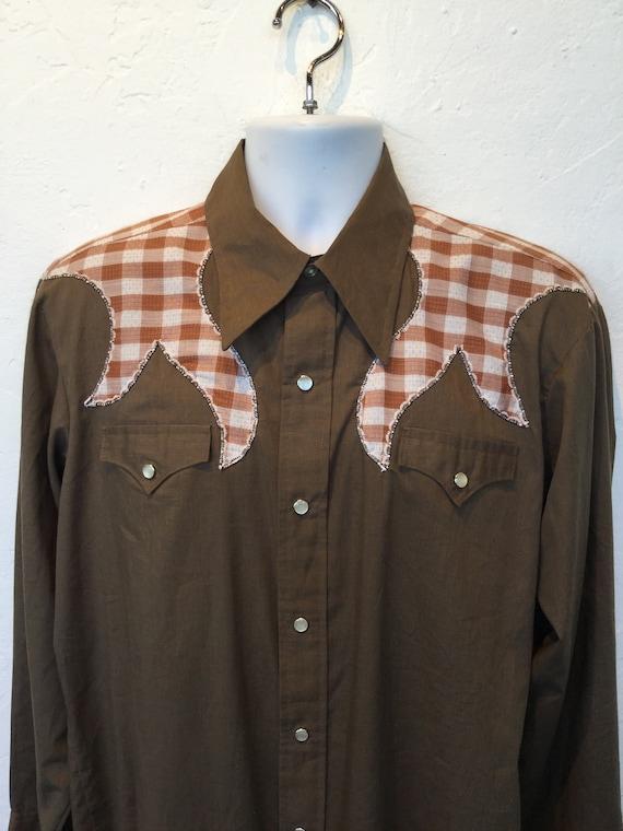 Vintage H-BAR-C cotton western shirt - image 5