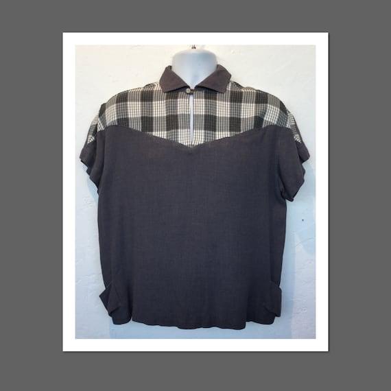 Vintage 1950s two tone gaucho shirt