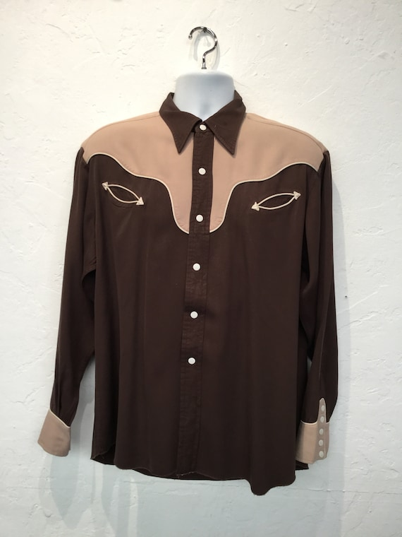 Vintage 1950s two tone western shirt - image 2